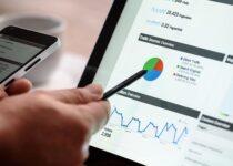 skærm med digital markedsføring
